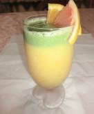 キャベツとオレンジの青汁スムージー